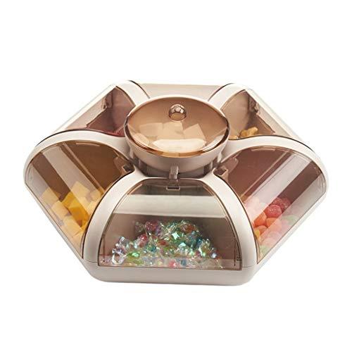 YWSZJ Bandeja de Frutas Sala de Estar Bandeja de Fruta Transparente Tipo de Prensa Snack Compartimiento Caja de Almacenamiento