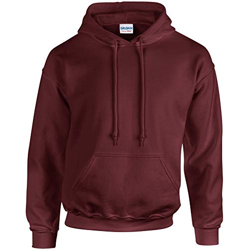 Gildan Men's Heavyweight Blend Hooded Sweatshirt - Maroon - X-Large