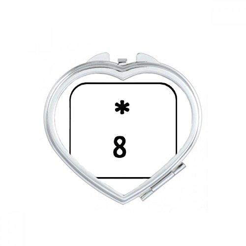 DIYthinker Tastatur Symbol 7 Herz Compact Make-up Taschenspiegel Tragbare Nette kleine Hand Spiegel Geschenk Mehrfarbig