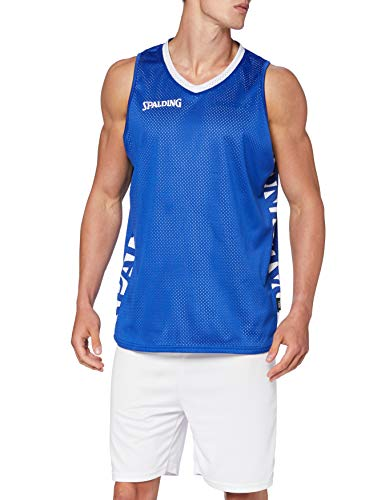 Spalding Essential Reversible Shirt Camiseta, Hombre, Royal/White, L