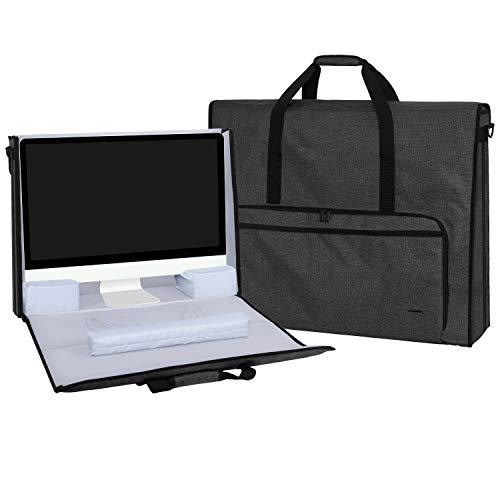 Teamoy Bolsa para Apple iMac 27 Pulgadas, Organizador para iMac 27', Almacenamiento para iMac 27 Pulgadas y Otros Accesorios, con Tirantes, Negro
