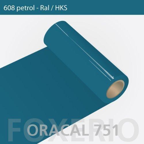 Orafol - Oracal 751 - 31cm Rolle - 5m (Laufmeter) - Petrol / hochglänzend, A367oracal - 751 - 31cm - 30 - kl - Autofolie / Möbelfolie / Küchenfolie