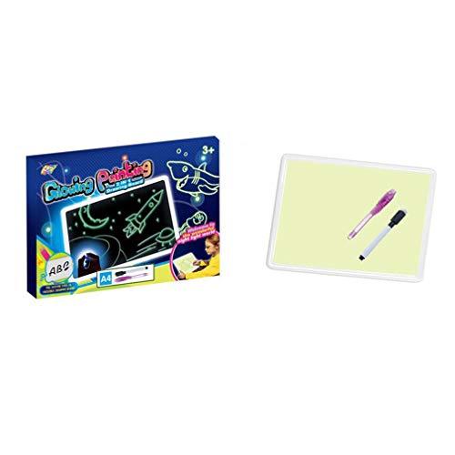 aixu Dibujo Mágico, Tablero De Efectos De Luz Luminosa, Dibujo Creativo, Bolígrafo para Niños, Regalo Multicolor A4 2 En 1 Tipo 2325 * 25 * 230