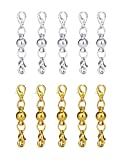 MUCHEN SHOP Extender di Collana,10 Pack Chiusura Magnetica Gioielli Catena Extender Magnetico per Bracciale Collana in Argento Oro