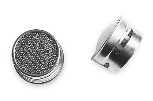 4er-Set: Premium Wasserhahn Perlator Aufsatz - Strahlregler Wasserfilter aus hochwertigem Chrom-Messing - Wasser-Spareffekt - M24 Innengewinde inkl. Dichtungsring und Zufriedenheitsgarantie