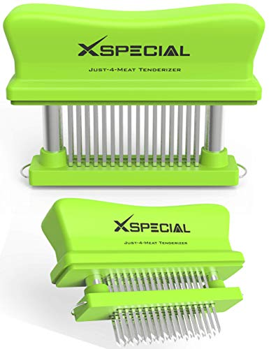 Toughest Meat Tenderizer Tool | 48 Needle Meat Tenderizer Blades Transforms Hard, Cheap or Delicate Cuts into Expensive | Buttery Goodness Without Meat Mallet Crushing - 100% Hassle-Free Guarantee!