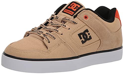 DC Shoes Men's Pure Low Top Sneaker Shoes Tan/Brown (tb2) 9