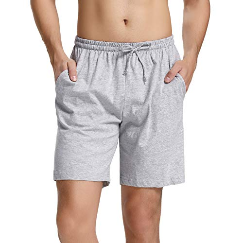 Hawiton Pantalones Cortos de Pijama para Hombre Algodón