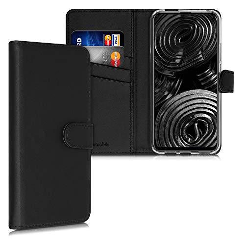 kwmobile Hülle kompatibel mit Honor 9X (EU-Version) - Kunstleder Wallet Hülle mit Kartenfächern Stand in Schwarz