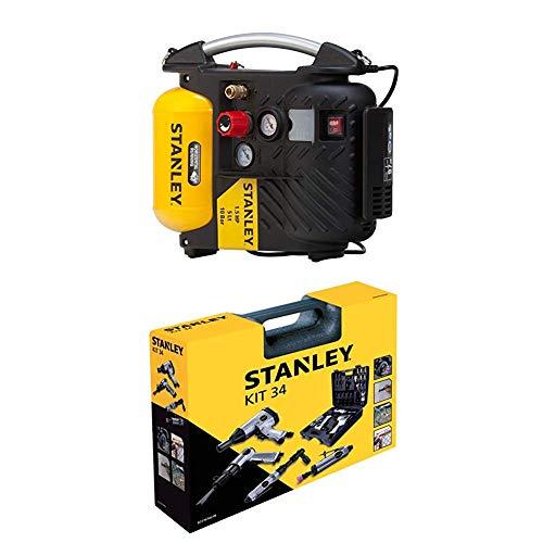STANLEY Compressor DN200/10/5 + Airtoolkit 34 pieces