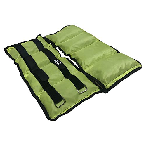 Rebecca Mobili Set 2 Cavigliere Pesi Polsi Caviglie, Verde, Cinturino Regolabile A Strappo, per Tonificare Walking, Palestra Casa - 2 x 4 kg - SP5043