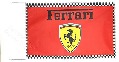 Cyn Flags Ferrari All KARIERT Fahne Flagge 2.5x5 ft 150 x 90 cm