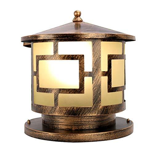 JJZXD Lámpara de Cabeza de Columna al Aire Libre Lámpara de jardín de Paisaje de Villa Impermeable Lámpara de Cabeza de Pared Lámpara de Poste de Puerta Lámpara de Puerta al Aire Libre