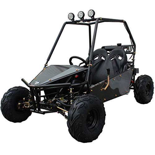 Massimo Go Kart M 125cc Off-Road Trail Master with 2 Seat and 4 Wheeler Cart for Kids, Teens, Small Adults Outdoor Use (Black)