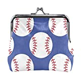Monedero Béisbol Deporte Cartera para Mujer Bolso de Mano Bolso pequeño para niñas Cartera de Embrague