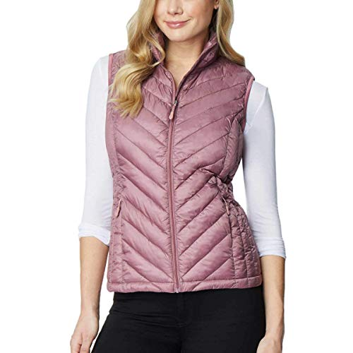 32 DEGREES Heat Womens Packable Vest (Large, Fig Berry)