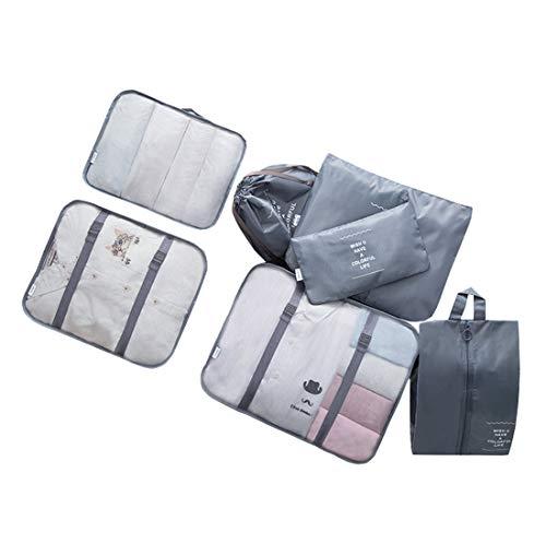 Repuhand 7 Set Travel Organizer Bag Cubi da Viaggio Organizzatori di bagagli Borse da viaggio impermeabili Borse da viaggio in poliestere