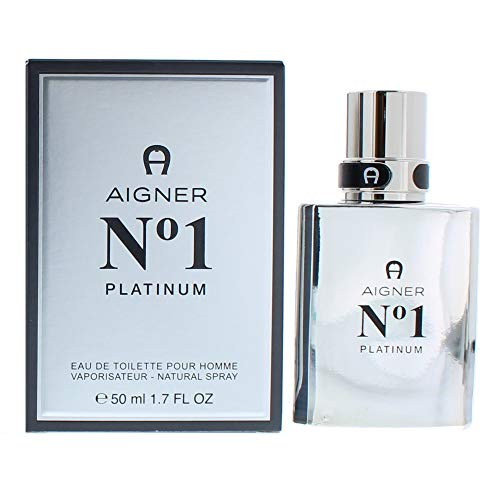 Etienne Aigner Number 1 Platinum homme / men, Eau de Toilette, Vaporisateur / Spray, 1er Pack (1 x 50 ml)