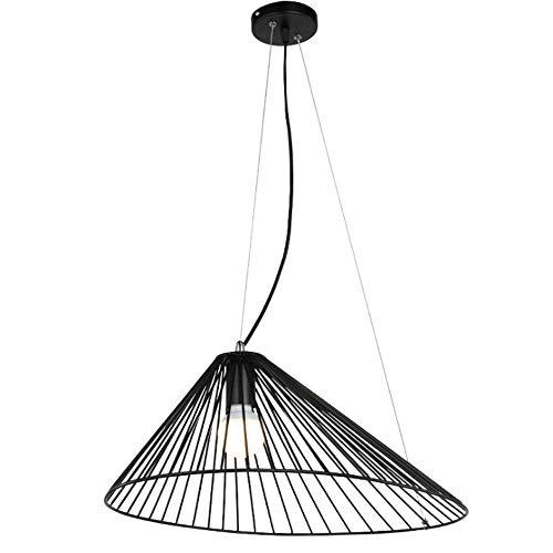 Dkdnjsk Nórdico moderno minimalista creativo sombrero de paja araña industrial viento labrado hierro paja sombrero de paja chandelier E27 sala de estar mesa de comedor E27 industrial retro hueco lámpa