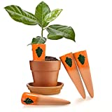 4pcs Plant Watering Devices, Ceramic Plant Waterer Set, Automatic Plant Waterers Watering System for Indoor Outdoor Office, Self-Watering Device for Plants