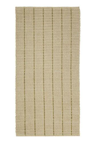 Jute & Co Ibiza tapijt van stof, Chenille, beige, 60 x 180 cm
