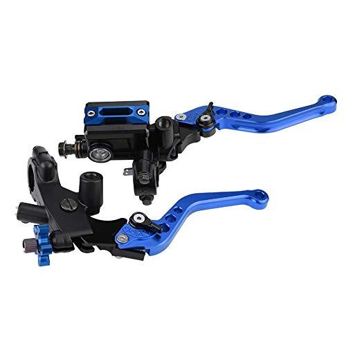 """1 Paar Motorrad Brems- und Kupplungshebel Universal Bremskupplung Hauptbremszylinder Behälter 7/8""""(22mm) (Blau)"""