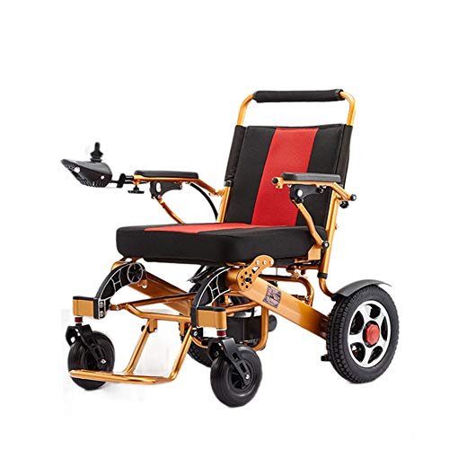 LHSUNTA for The Elderly, Walkers, Children Faltbarer Elektrorollstuhl, Leichter Rollstuhl, Geländegängiger Elektroroller, Zweimotoriger Elektrorollstuhl, 12A Lithiumbatterie, 15 Km Aluminiumlegierung