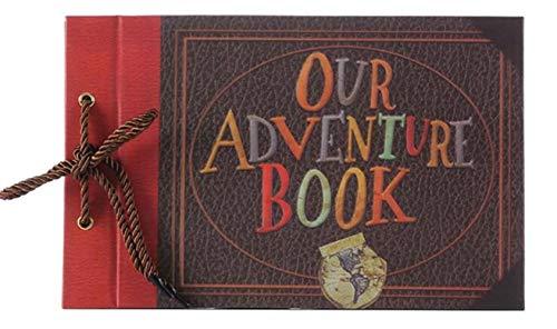 BVYO Vintage Kraft Paper Sheets Card Baby DIY Adventure Book Album Handmade DIY Photo Scrapbook Photo Album,Our Adventure Book