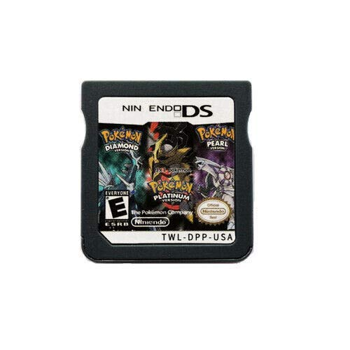 New Pokemon Platinum Pearl Diamond 3 in 1 Games USA Reproduction Version For Nintendo DS 3DS 2DS