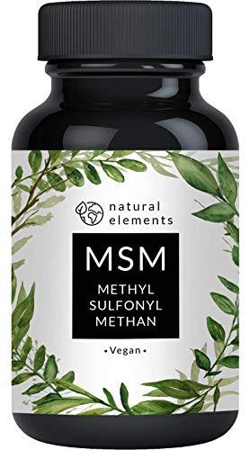 MSM Kapseln - Vergleichssieger 2020* - 365 vegane Kapseln - Laborgeprüft - 1600mg Methylsulfonylmethan (MSM) Pulver pro Tagesdosis - Ohne Magnesiumstearat, hochdosiert