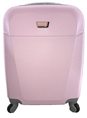 Maleta Equipaje de mano cabina rígida ligera con 4 ruedas 55cm TERRAE color Pink PK0935