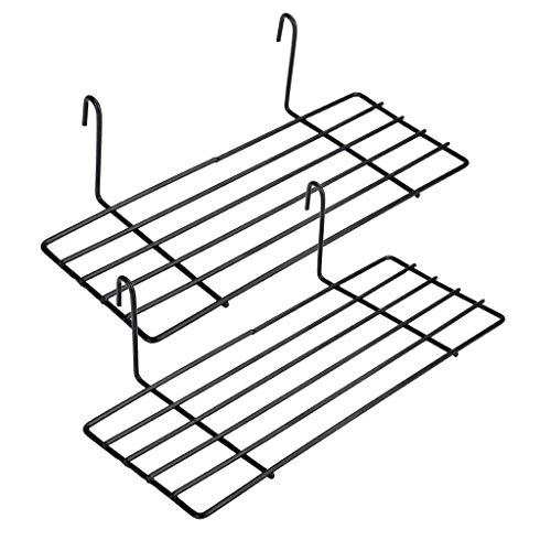 WUZILIN Regal für Design Metall Wandgitter, 2 Stück , Schwarz