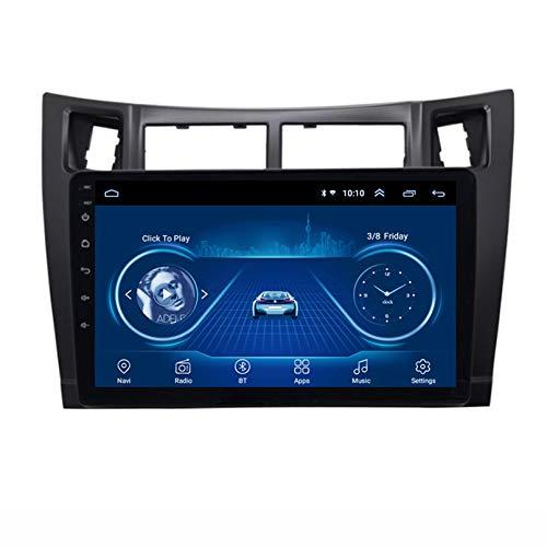 STTTBD Android 9.1 Car Satellite Radio 9-Zoll-Multimedia-Player Für Toyota Yaris 2008-2011 Autoradio 2.5D-Bildschirm Mit WLAN Bluetooth FM AM Lenkradsteuerung(Color:WiFi 4G+64G)