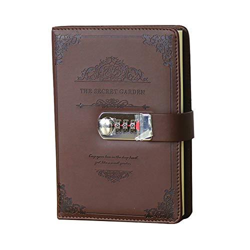 Password Keeper Book, Notebook Password Keeper Journal Notebook for Computer & Website Logins (Brown)