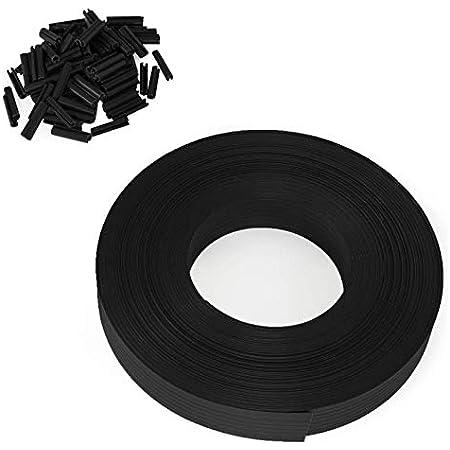 IDMarket - Kit de lamelles occultantes PVC Noires L. 60 M pour Panneau grillagé