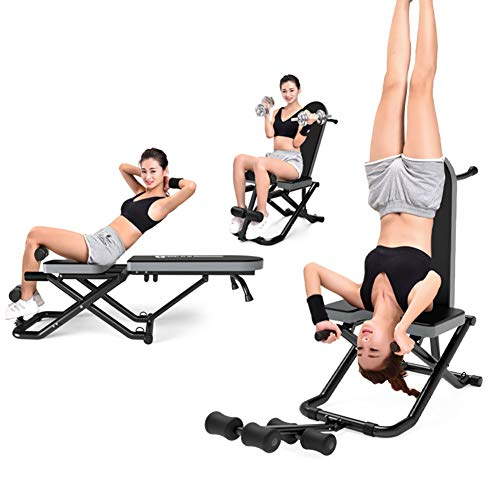 Best Review Of Gravity Inversion Table Adjustable Hand Stand Home Back Stretcher Machine, Upside Dow...