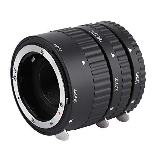 Topiky fotografie handmatige scherpstelling macro verlenging close-up ring adapter lens slang, verstelbaar 12mm, 20mm, 36mm objectief kit voor Nikon F Mount voor Nikon D7100 D7000 D5300, voor N-AF-B (plastic)