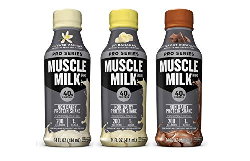 Muscle Milk Pro Series Non Dairy Protein Shake, 3 Flavor Variety Pack, 40g Protein, 14 FL OZ (Pack of 24)