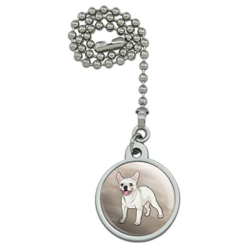 GRAPHICS & MORE French Bulldog Smiling Pet Dog Ceiling Fan and Light Pull Chain