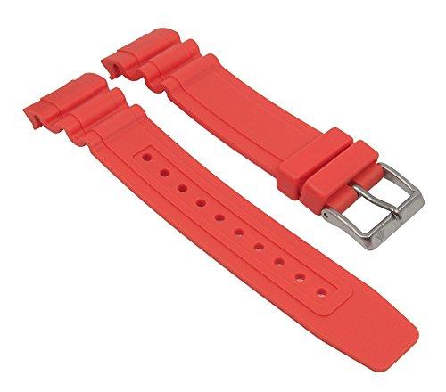 Ersatzband Uhrenarmband Kunststoff Gummi Band orange passend zu Citizen Promaster Taucheruhr BN0100 28143
