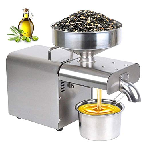 NBVCX Outdoor Utensils Cyg Oil Press Machine Small Home Smart Stainless Steel Expeller Press Machine Edible Oil Processing Equipment Press Oil Extractor Oil Expeller