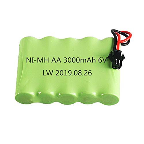 NHFGJ 1 Piezas a 10 Piezas 6v 3000mah Nimh Batería Recargable para Juguetes RC Coches Barcos Modelo AA 2400mah 6v Batería 1PCS