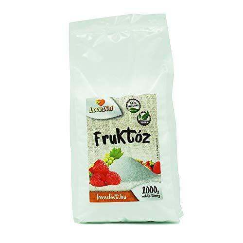 LoveDiet Fructose, Fruchtzucker 1000 g - Süß und fruchtig - Glutenfrei Vegan - 100% Natural
