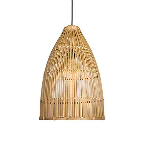 YAOXI Clásico Bambú Colgante De Luz, Salón Cocina Colgante De Luz Techo Sala Pasillo Elegante Lámpara De Techo para Comedor Dormitorio Vestíbulo Lámpara Colgante,D20