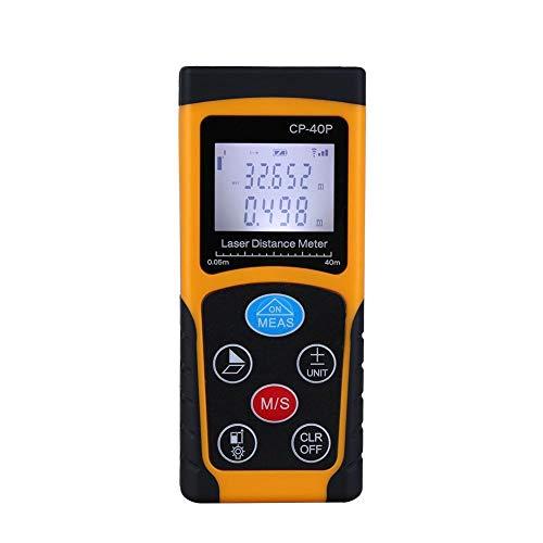 Mugast Entfernungsmesser,Hochpräziser Handheld-Digital-IR-Entfernungsmesser Kompakter Messbereichssucher Distanzmessgerät mit LCD Hintergrundbeleuchtung und mehrzeiligem Display(40m)
