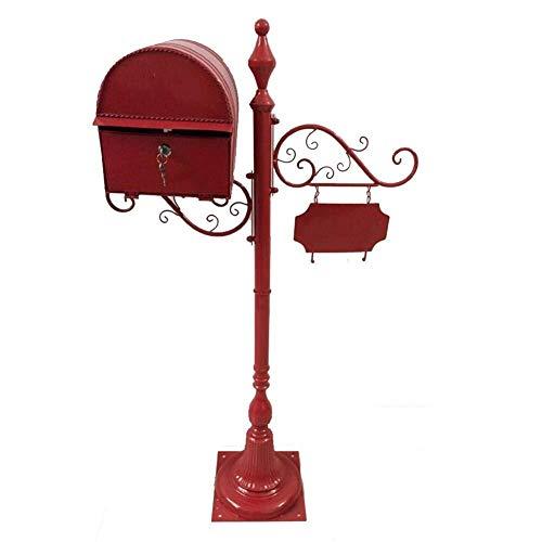 JN Outdoor wandbrievenbus brievenbus brievenbus postbus doos Amerikaanse Retro landelijke villa indicator Met slot 2 sleutel Europese stijl Patroon Afsluitbaar weerbestendig brievenbus