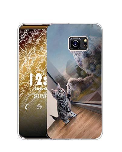 Sunrive Coque Compatible avec HTC U Ultra, Silicone Étui Housse Protecteur Souple Gel Transparent Back Case(Q Chat 3)+ Stylet OFFERTS