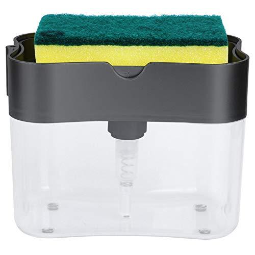 Cleaning Brush Sponge Sink Pot Brush Dishwashing Brush Durable Material for Household(Gray)