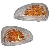 Twowinds - 7485120621 + 7485120620 Feux Clignotants Blancs/orange, rétroviseur extérieur de Droite et Gauche (Lot de 2 pièces) Master Movano