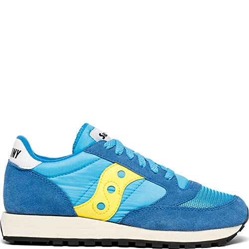 Saucony Jazz Original Vintage, Sneaker Donna, Blu (Blue/Yellow 62), 39 EU